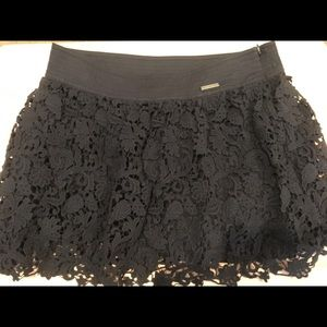 Abercrombie & Fitch lace mini navy blue skirt 8